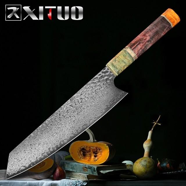 ダマスカス包丁 【XITUO 公式】 牛刀 刃渡り20cm VG10 ks20110402