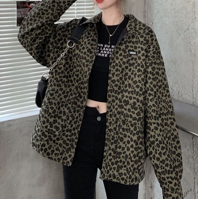 【人気NO.18】【最短2日で発送】Reversible leopard jacket LD0190