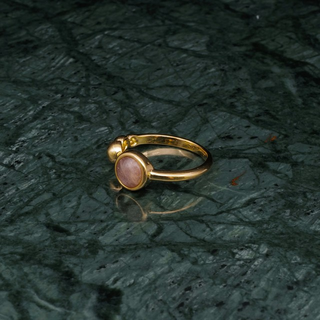SINGLE MINI STONE OPEN RING GOLD 001
