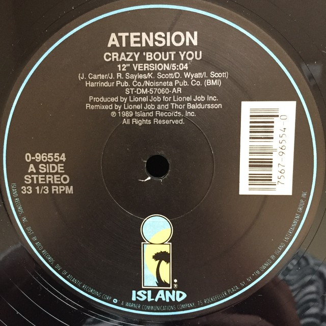 Atension ‎– Crazy 'Bout You