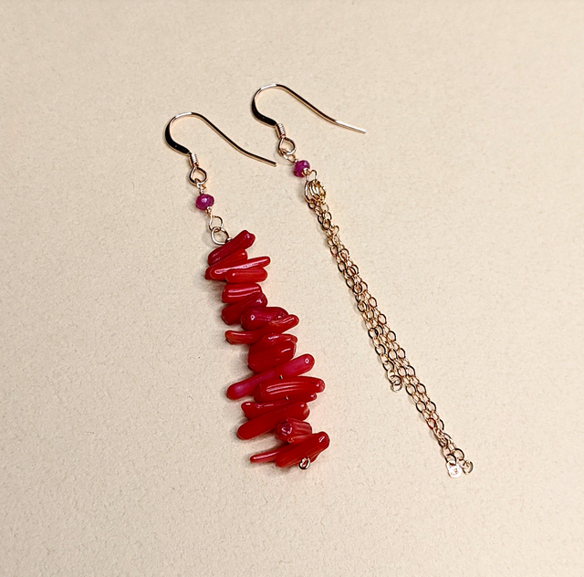 Ruby & Coral earrings | MIHO meets RUKUS