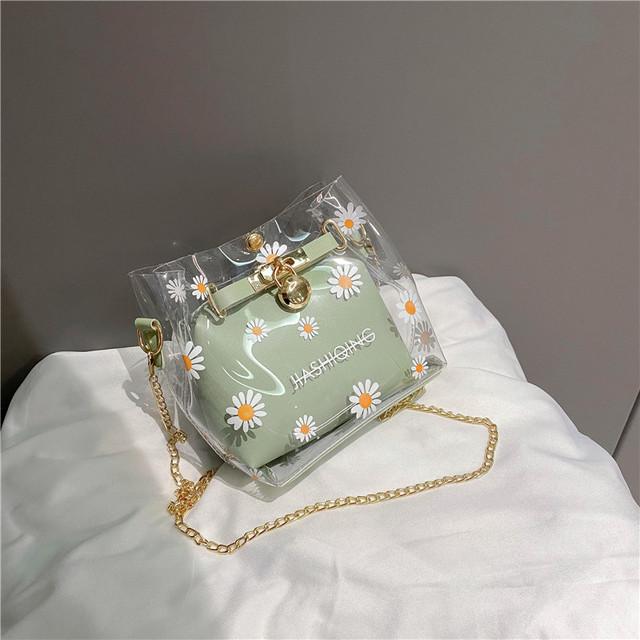 【バッグ】ins超人気! ファッション 植物柄 マグネット 小さなヒナギク ボディバッグ31422979