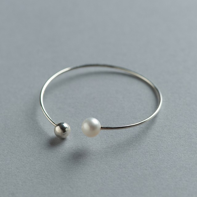 wave pearl ピアス  SILVER
