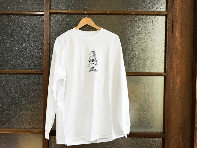 "KICKS/HI ""PINEAPPLE"" L/S TEE (WHITE)"