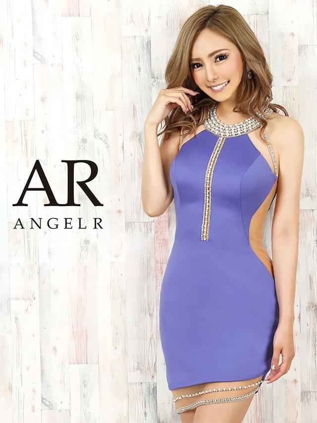 【AngelR】デコルテオーロラビジューシアーカットスカートタイトミニドレス(AR20326)