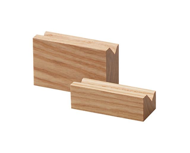 リングスタンド2本用S置き型 木製バウム色 1145-NW-S
