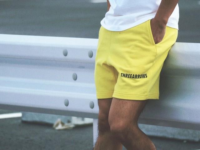【6/26 21:00再入荷】THREEARROWS スウェットパンツ(yellow)