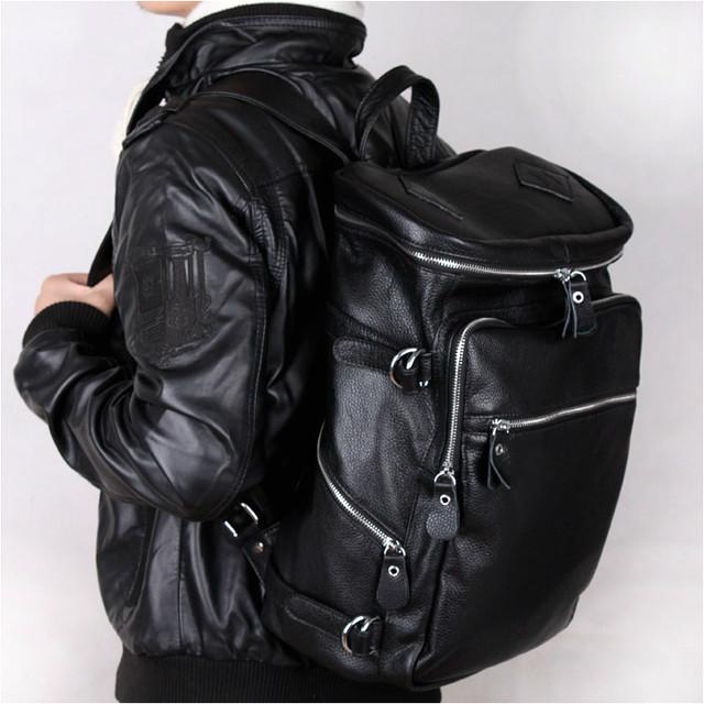 リュックサック 軽量 バックパック メンズ  本革 レザー 通勤 通学 大bag-115