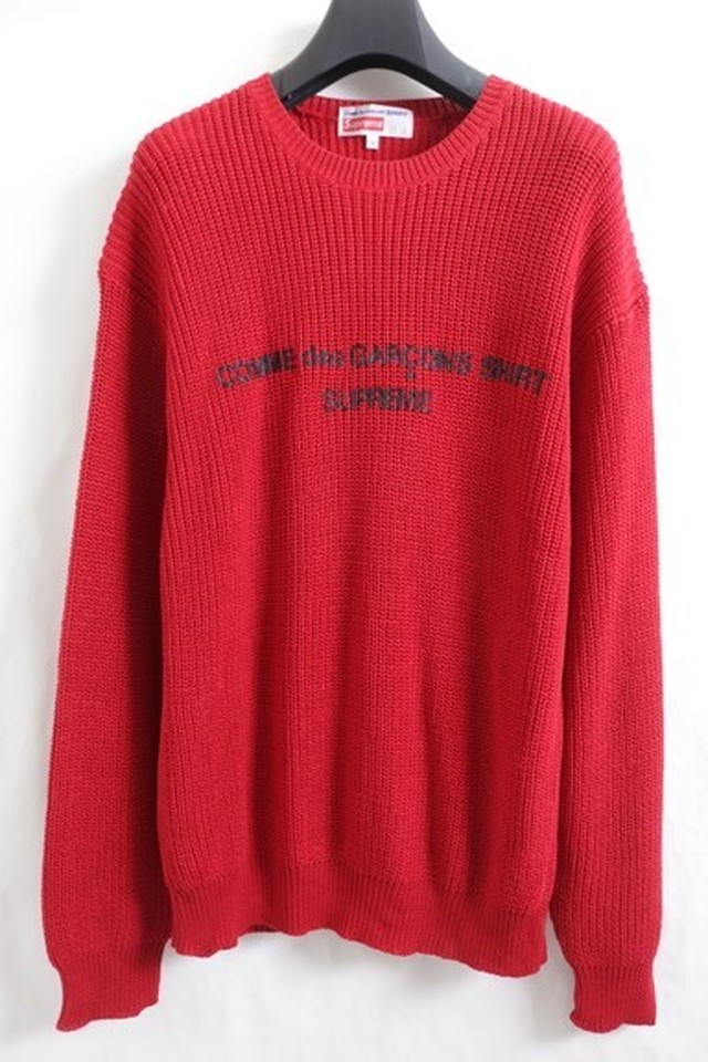 Supreme 18AW × COMME des GARCONS SWEATER RED MEDIUM 205JC5097