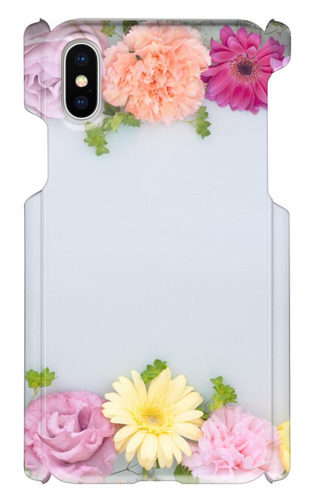 iPhoneX 印刷ケース ボタニカル 花柄 花模様  オリジナルケース iphone 画像印刷 自然 ピンク