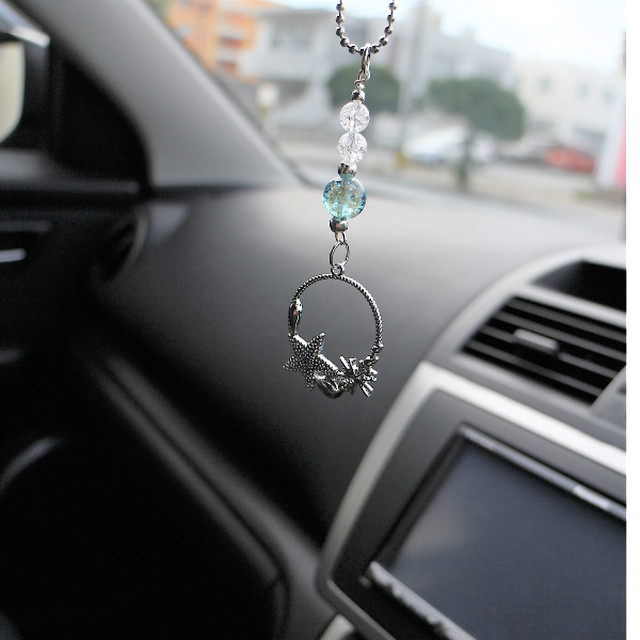 オーシャン Carルームミラーハンギング 車内ミラーアクセサリー 車のルームミラーに飾る
