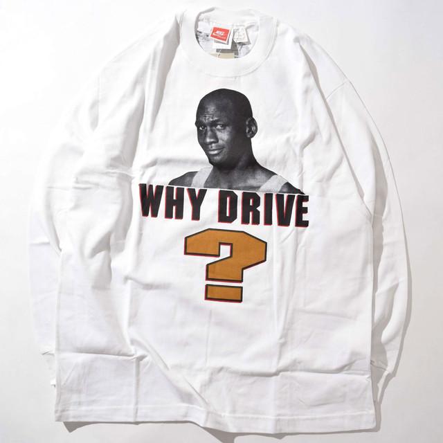 【Lサイズ寸】NIKE ナイキ AJ WHY DRIVE? ジョーダン Tee Tシャツ WHITE ホワイト シミ有 243301190313