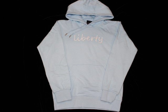 pastel blue hoodie