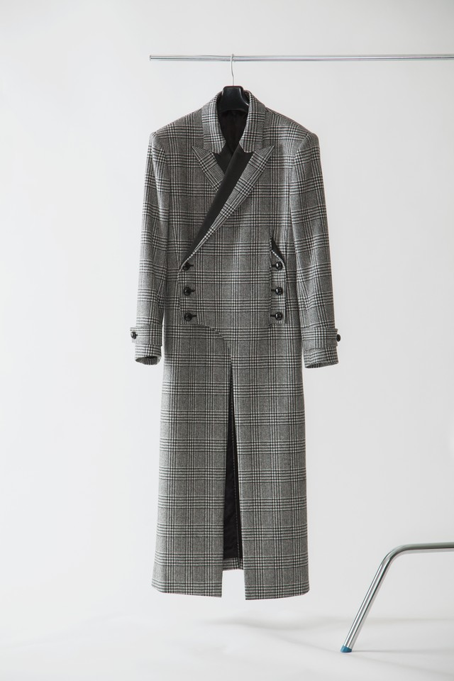 【FW20 先行受注】 morning coat 〈glen check / black / white〉