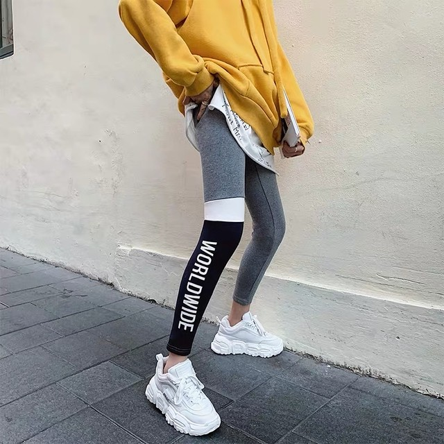 half street design leggings