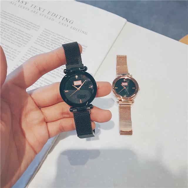 ペアウォッチ カップル ペアルック ラウンド ブラック ゴールド 腕時計 おしゃれ デート w1005