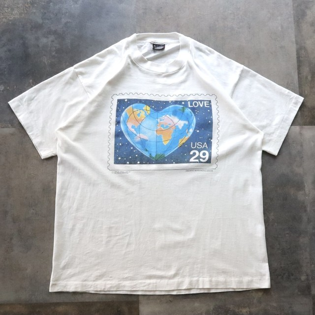 made in USA vintage print tee