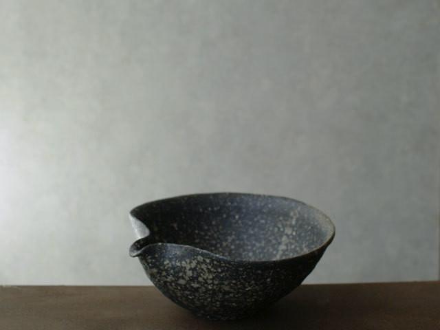 鶴見宗次 片口鉢(黒)