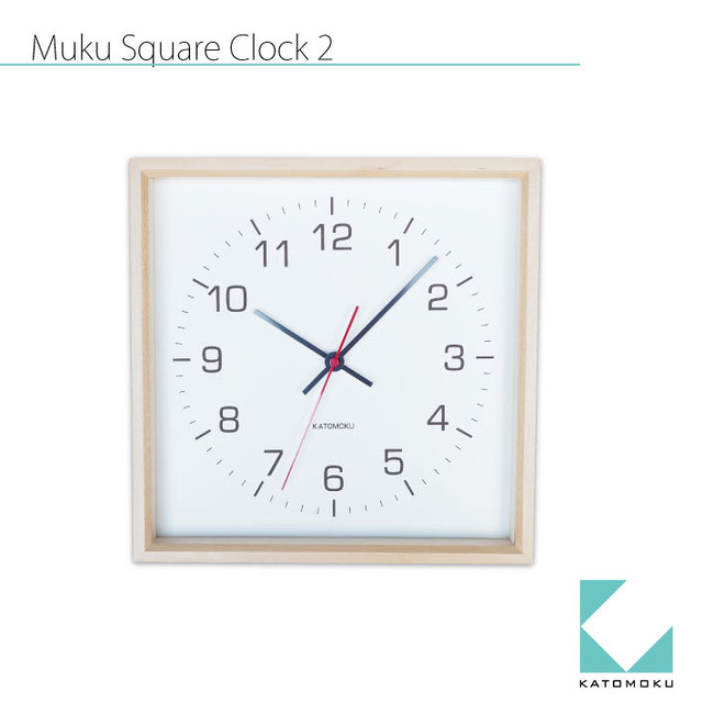 KATOMOKU muku mini round clock km-26白