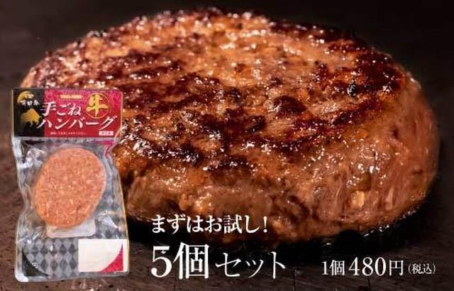 宮崎 有田牛手ごねハンバーグ(5個セット)