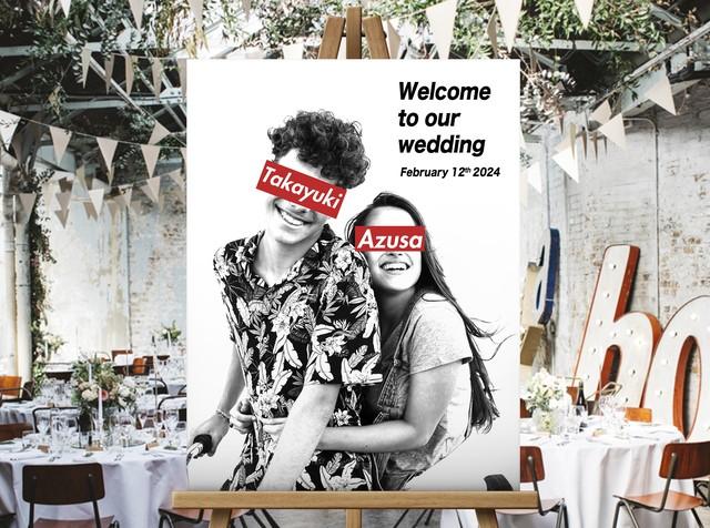 パロディーアート 写真ウェルカムボード│結婚式