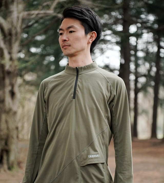 Sato LS Half Zip: Color Green