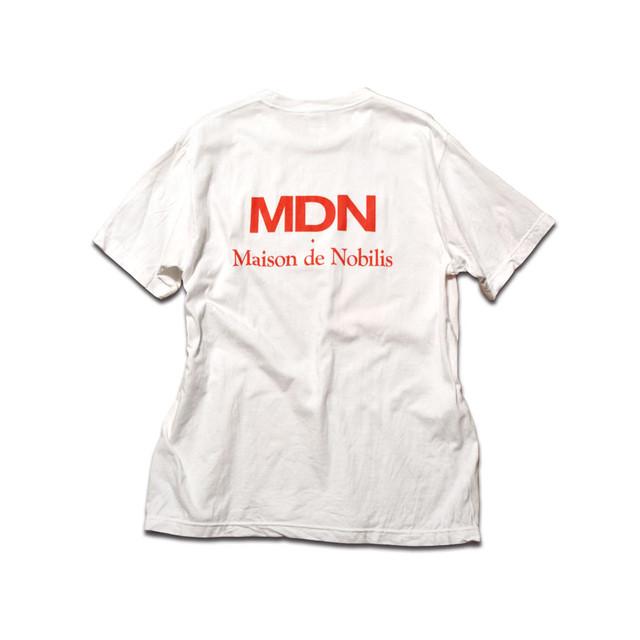 【メール便送料無料】MDN Back Logo Tee White【品番 18A3005】