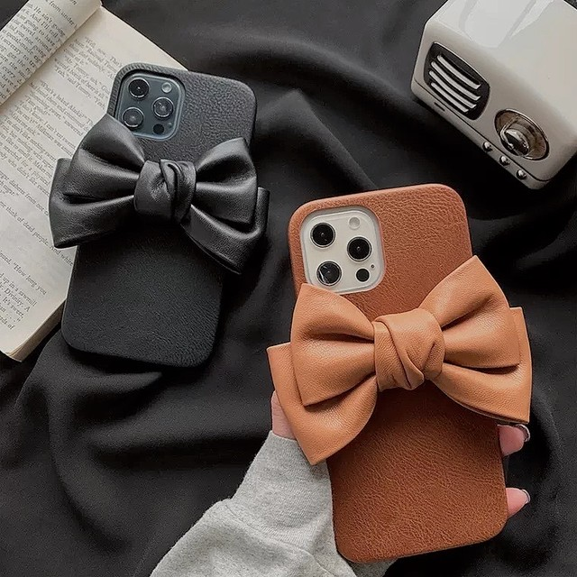 leather ribbon iPhone case 2color