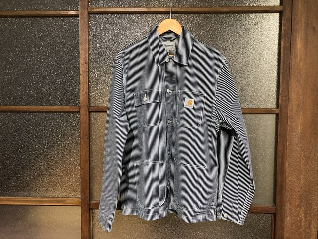 CARHARTT WIP MICHIGAN COAT (BLUE/WHITE RINSED)
