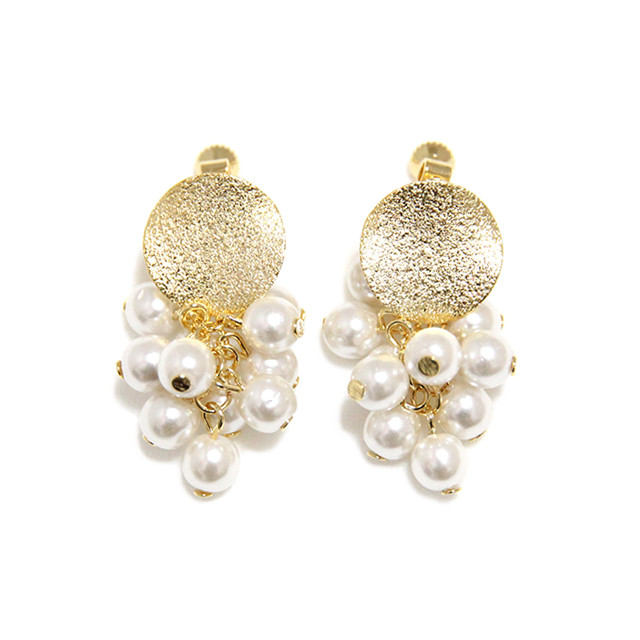 grape pearl earring