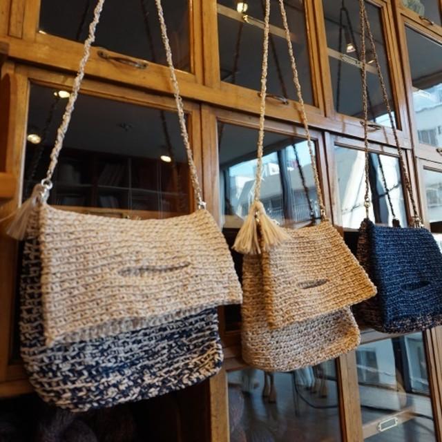 和紙で作るマルチクラッチバッグの編み物キット