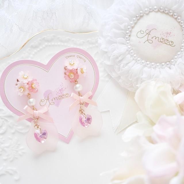 【2.3月限定販売】201 桜ブーケスウィートペタルピアス/イヤリング