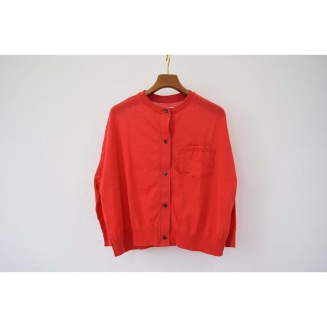 Simva115-0004-Red 18G Drop Shoulder Cardigan