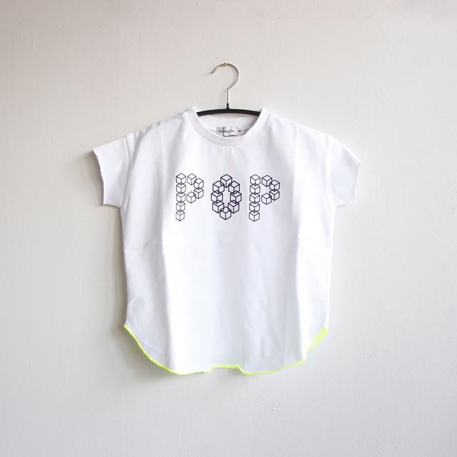 《frankygrow 2020SS》CUBE POP TEE / white / LL