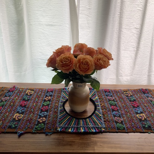 Vintage Hand Needle Table Liner _06(ヴィンテージ 刺繍 テーブルライナー/テーブルクロス/タペストリー)