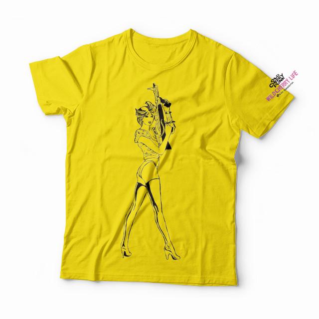 """【予約注文商品】山口明 Tシャツ「DOUTee /""""WILD CHERRY LIFE 表4側そで""""」(yellow)"""