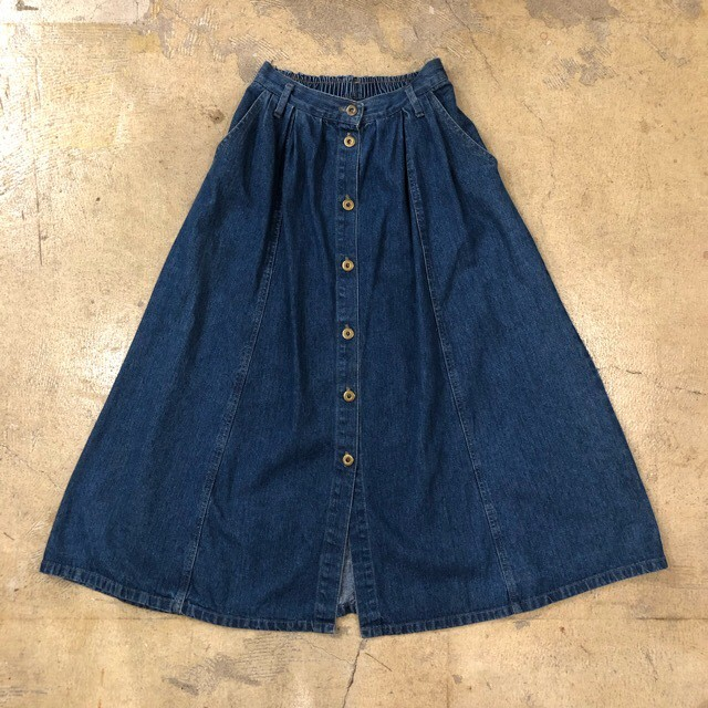 Denim Long Skirt ¥4,500+tax