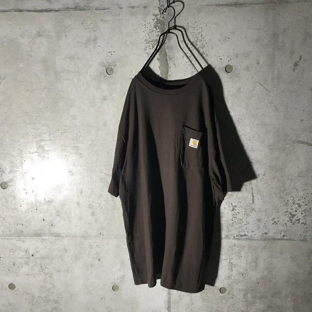 [Carhartt]dark brown T shirt