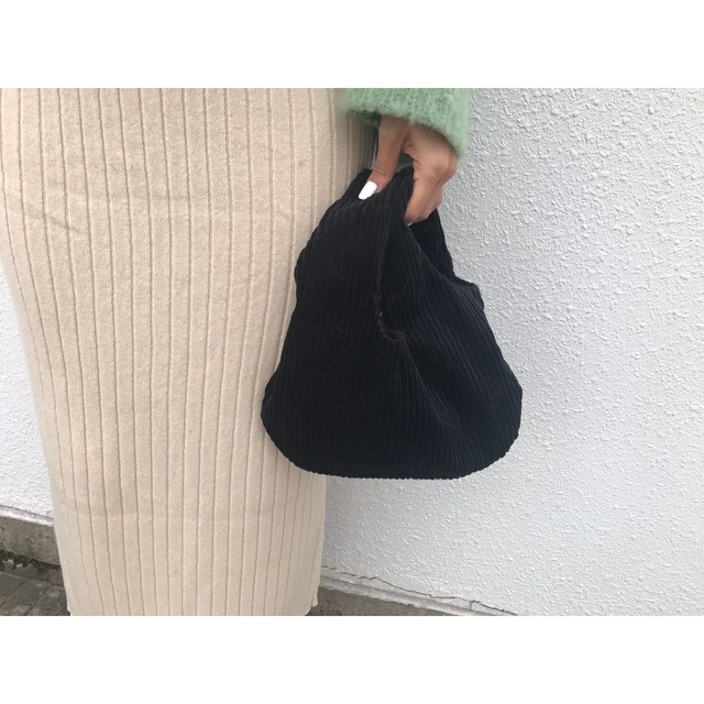 corduroy mini bag (black)