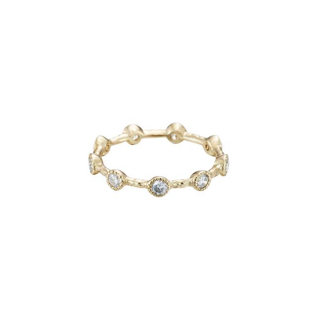 Nine Diamonds Ring / K18YG
