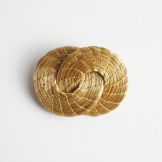 【ビオジュエリー】 黄金の草 カッピンドウラード  ブローチ ダブルリング