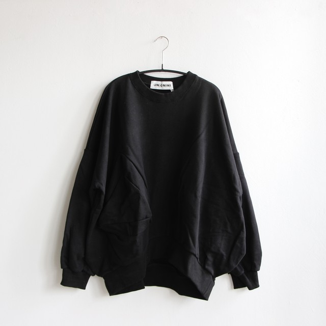 《UNIONINI 2020AW》◯△ sweat shirt / black / 大人S・M