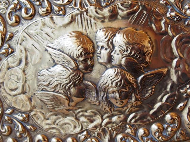 エンジェルの真鍮トレイ