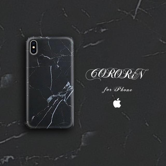 【iPhone12シリーズ/SE2対応】ユニセックスもOK<ホワイト×ブラックケース>大理石風マーブルデザインケース (SPCa0044-1MWB)◆スマホケース/iPhoneケース