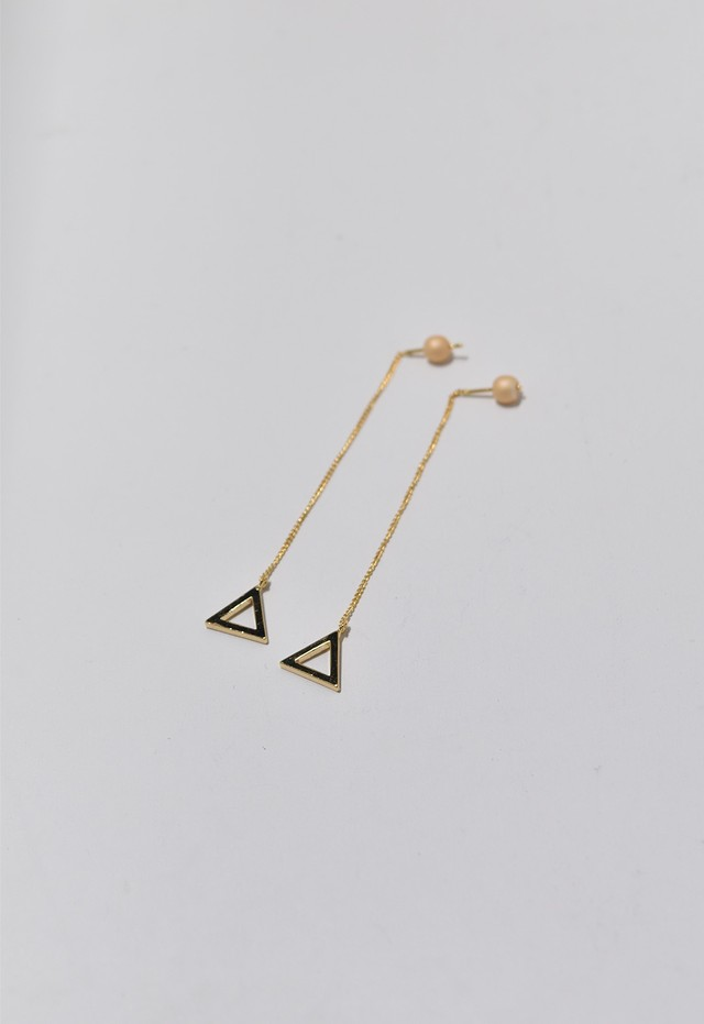 triangle frame pierce Gold/Light Orange