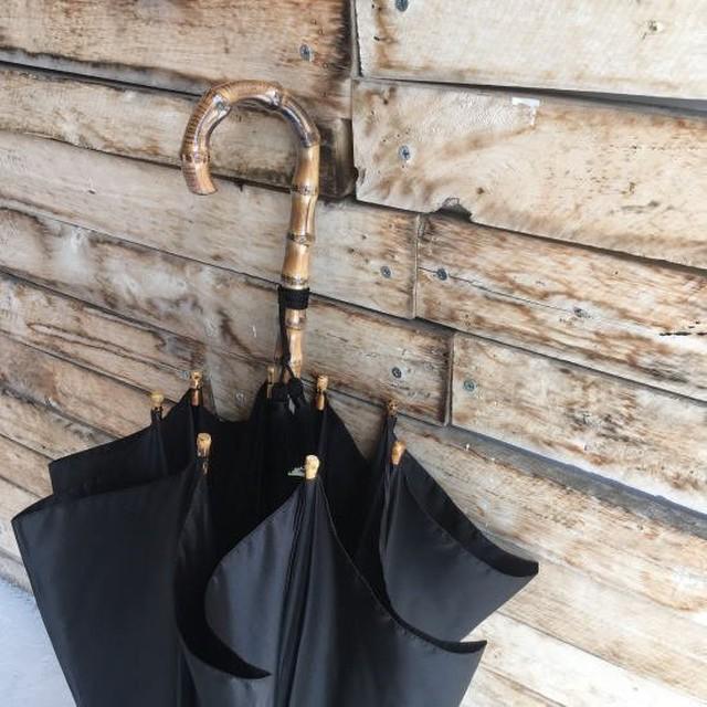WAKAO(ワカオ) 富士絹ポリエステル長傘 ブラック
