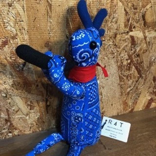 ココペリ人形バンダナ柄ブルーMサイズ
