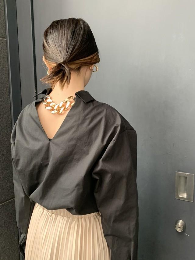 バックチェーンシャツ[Color:ブラック]
