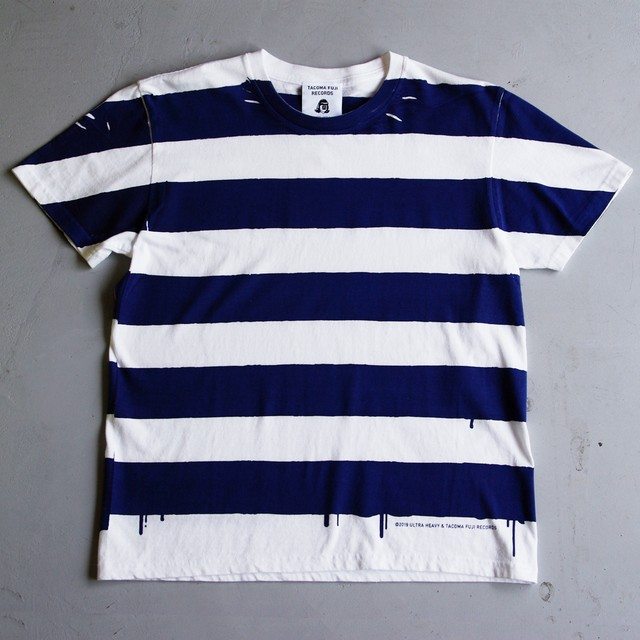 ULTRA HEAVY & TACOMA FUJI RECORDS STRIPE T NAVY