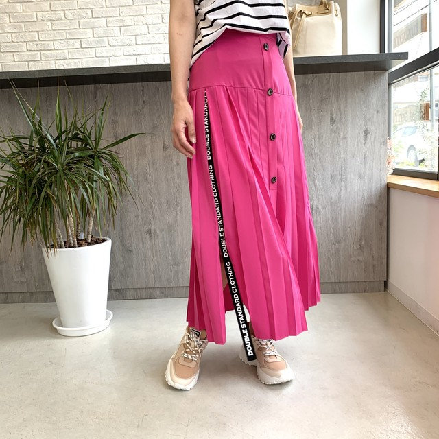 DOUBLE STANDARD CLOTHING (ダブルスタンダードクロージング) スリットロゴテープスカート 0502380201